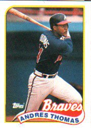 1989 Topps 523 Andres Thomas