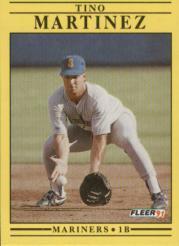 1991 Fleer 458 Tino Martinez