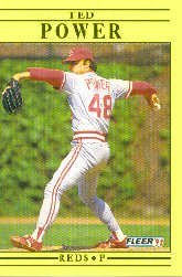 1991 Fleer Update #85 Ted Power