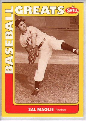 1991 Swell Baseball Greats #59 Sal Maglie