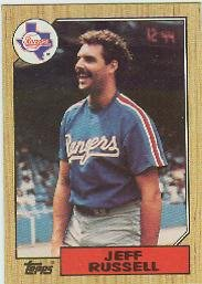 1987 Topps 444 Jeff Russell