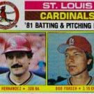1982 Topps #186 Cardinals