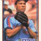 1991 Topps 526A Moises Alou ERR/(37 runs in 2 games/for '90 Pirates)