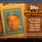 2010 Topps Million Card Giveaway #TMC21  Roy Campanella
