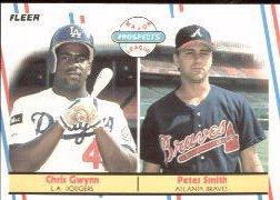 1988 Fleer 647 Pete Smith/Chris Gwynn RC