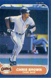 1986 Fleer #535 Chris Brown RC