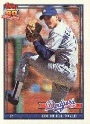 1991 Topps 39 Jim Neidlinger RC