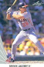 1990 Leaf 74 Brook Jacoby