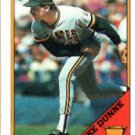 1988 Topps 619 Mike Dunne/Inconsistent design,/black name on