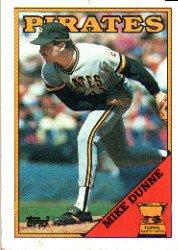 1988 Topps 619 Mike Dunne/Inconsistent design,/black name on