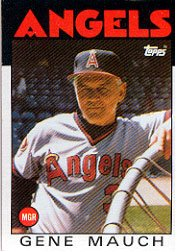 1986 Topps 81 Gene Mauch MG