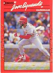 1990 Donruss 161 Jose Oquendo