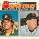 1990 K-Mart 33 Tony LaRussa MG and/Roger Craig MG