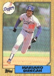 1987 Topps 199 Mariano Duncan