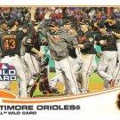 2013 Topps #317 Baltimore Orioles