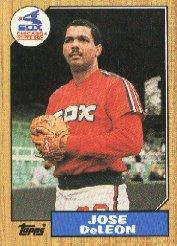 1987 Topps 421 Jose DeLeon