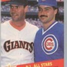 1989 Fleer 631 Will Clark/Rafael Palmeiro UER