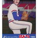 1986 Huntsville Stars Jennings #34 Greg Cadaret