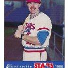 1986 Huntsville Stars Jennings #25 Brad Fischer