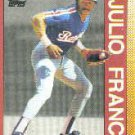 1990 Topps 386 Julio Franco AS