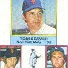 1976 Topps #203 NL Strikeout Leaders/Tom Seaver/John Montefusco/Andy Messersmith