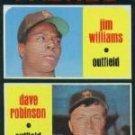 1971 Topps #262 Rookie Stars/Jim Williams/Dave Robinson RC