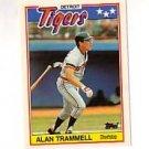 1988 Topps UK Minis #79 Alan Trammell