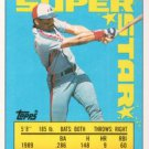 1990 Topps Sticker Backs #18 Tim Raines