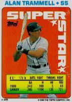 1990 Topps Sticker Backs #45 Alan Trammel