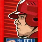 2013 Triple Play Stickers Red #29 Aaron Hill