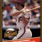 1986 Donruss Highlights #36 Mike Schmidt