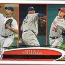 2012 Topps #319 Justin Verlander/CC Sabathia/Jered Weaver LL