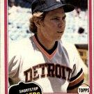 1981 Topps #709 Alan Trammell DP
