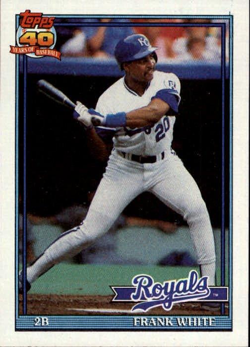 1991 Topps 352 Frank White