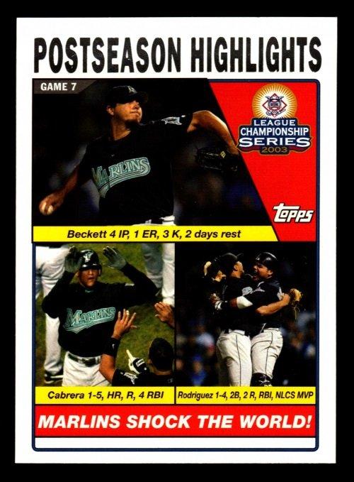 2004 Topps #351 Beckett/Cabrera/I.Rod NLCS
