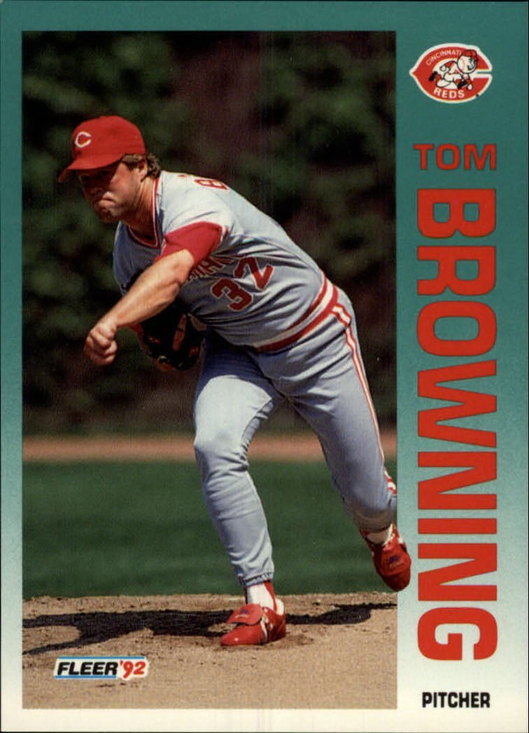 1992 Fleer 401 Tom Browning