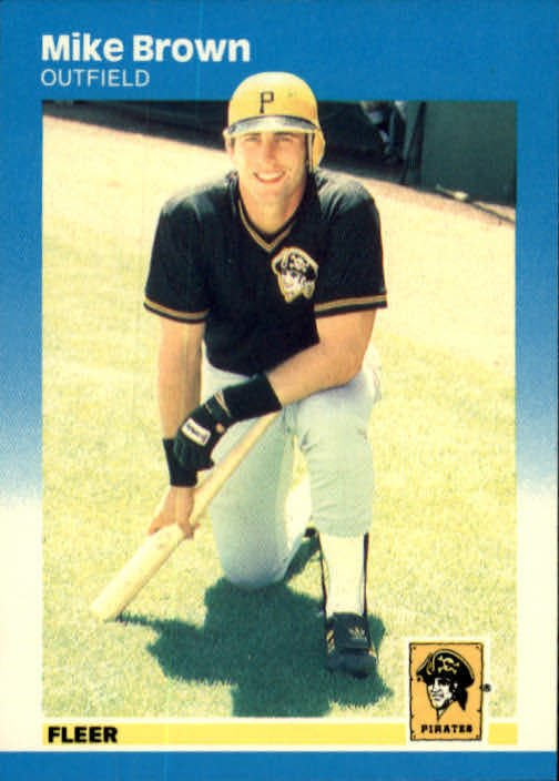 1987 Fleer #607 Mike C. Brown