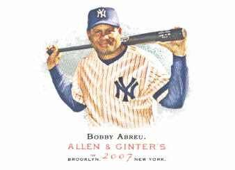 2007 Topps Allen and Ginter #275 Bobby Abreu