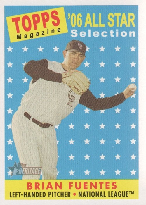 2007 Topps Heritage #494 Brian Fuentes AS