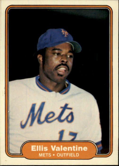 1982 Fleer 541 Ellis Valentine