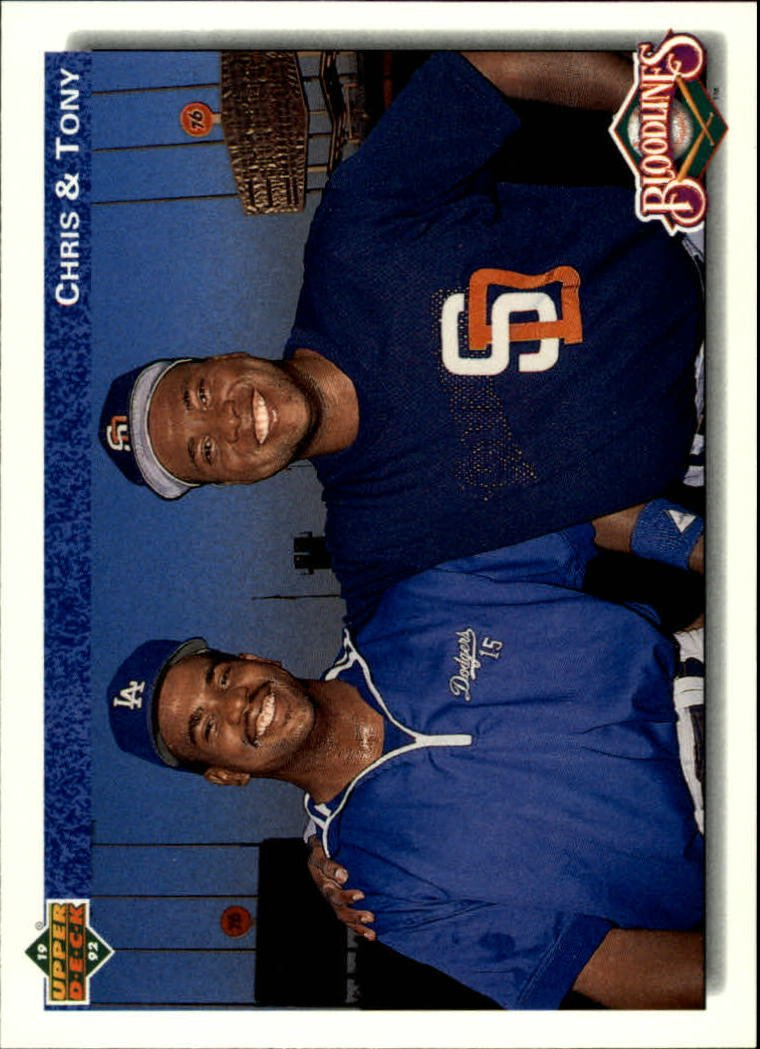 1992 Upper Deck 83 Tony Gwynn/Chris Gwynn