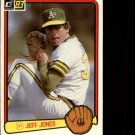 1983 Donruss #651 Jeff Jones