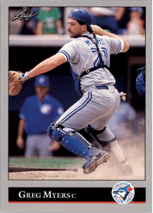 1992 Leaf 192 Greg Myers