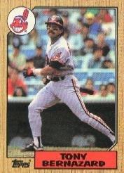 1987 Topps 758 Tony Bernazard