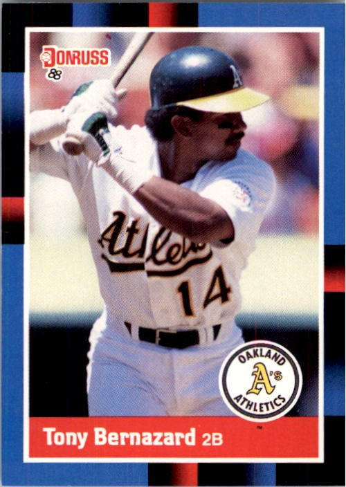 1988 Donruss 344 Tony Bernazard