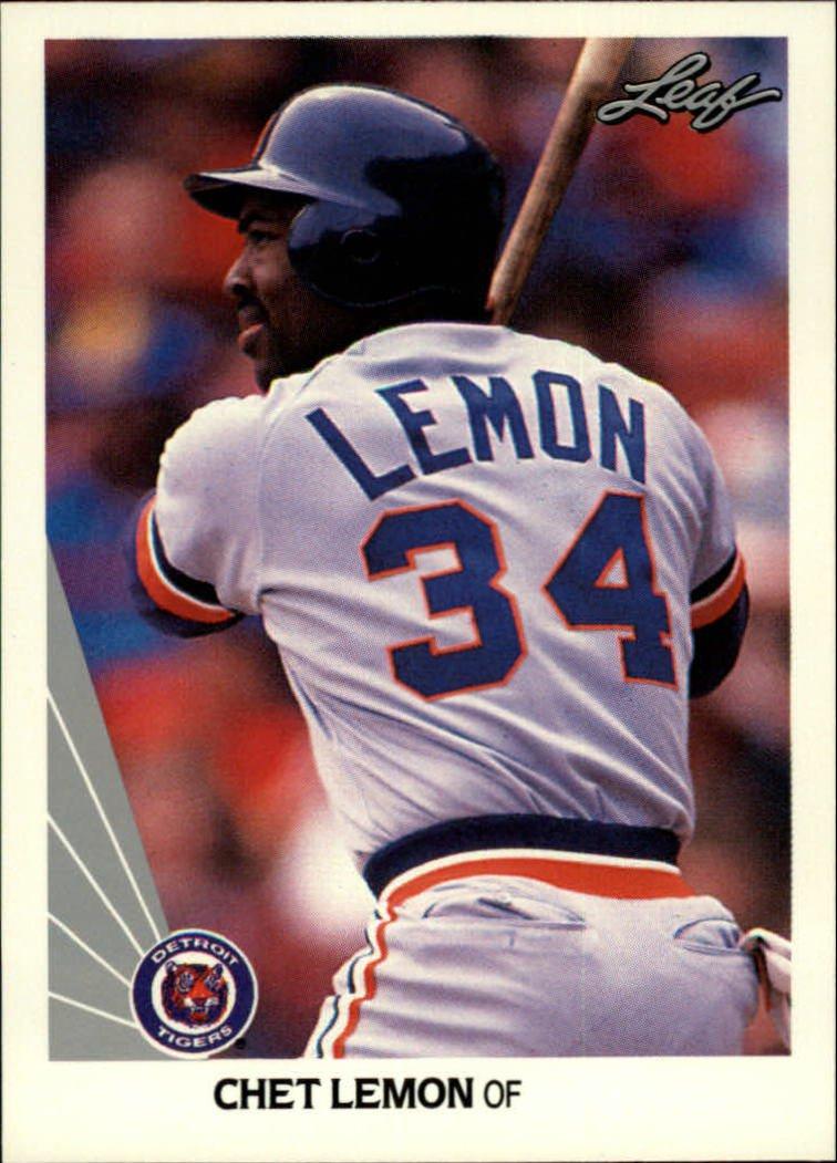 1990 Leaf 133 Chet Lemon