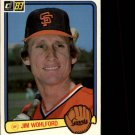 1983 Donruss #524 Jim Wohlford