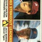 1984 Topps 136 Steve Carlton/Jack Morris LL