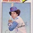 1977 Topps #610 Jose Cardenal