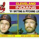 1982 Topps 559 Indians TL/BA: Mike Hargrove/Pitching: Bert Blyleven